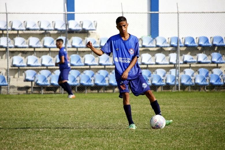 Rodrigo teve atuação destaca, marcando um dos gols da Águia sobre o SGEC. Foto: Gabriel Farias.