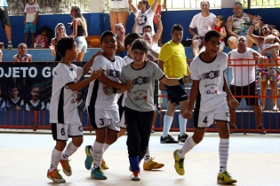 O Gol de Letra lidera no sub-07 e sub-11. Foto: Gabriel Farias.