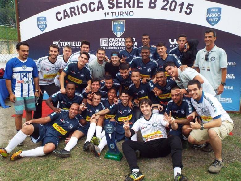 SÓ ALEGRIA! O Clube Central ficou com o título do primeiro turno na Segundona. Foto: Reprodução/Facebook.