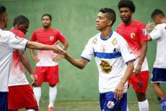 Dennys se destacou na goleada do JA sobre o Furacão. Foto: Gabriel Farias.